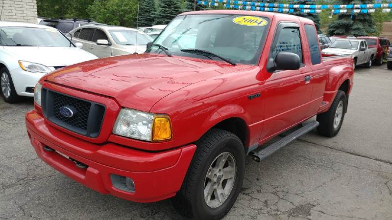 2004 FORD RANGER EDGE 4DR SUPERCAB 4WD SB bright red carfax 2 owners and no accidents 40l v6 ef