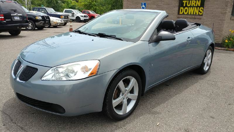 2007 PONTIAC G6 GT 2DR CONVERTIBLE bluegold crystal metallic carfax 1 owner and no accidents 3