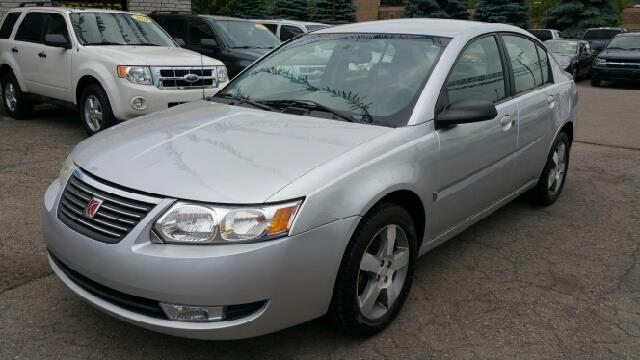 2006 SATURN ION 3 4DR SEDAN WMANUAL silver nickel carfax no accidents 5spd one owner cream puf
