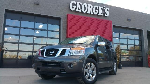 2011 NISSAN ARMADA PLATINUM 4X4 4DR SUV smoke 4wd theres an ocean of head- and legroom can pul