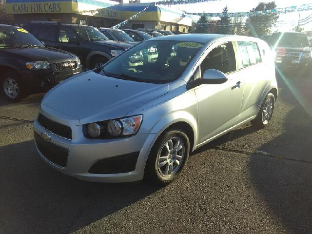 2012 CHEVROLET SONIC LS 4DR HATCHBACK W1LS silver carfax 1 owner and no accidents 5spd manual