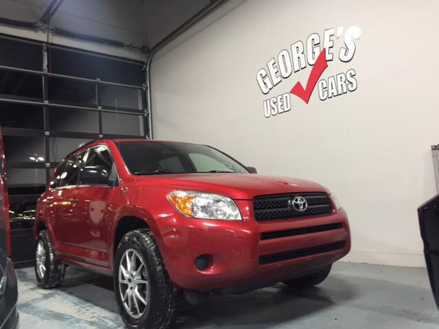 2008 TOYOTA RAV4 BASE 4X4 4DR SUV red 4wd and cloth goof-proof controls a victorious venture in