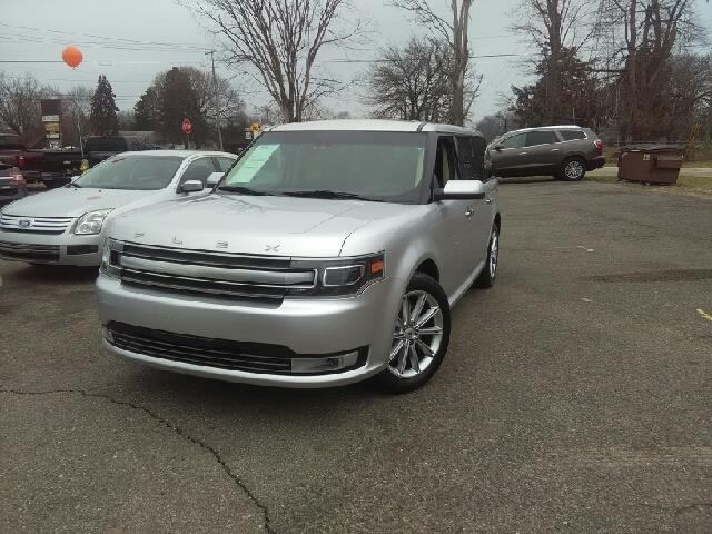 2013 FORD FLEX LIMITED 4DR CROSSOVER ingot silver metallic carfax 2 owners and no accidents breat