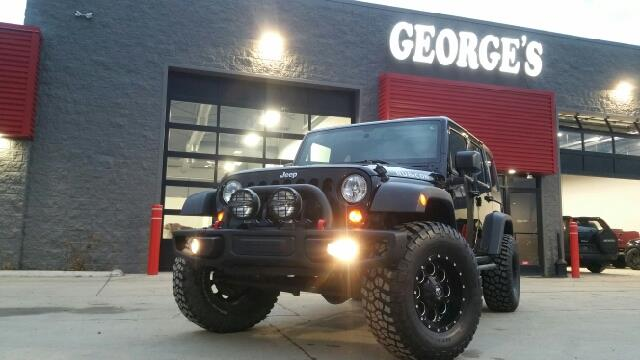 2013 JEEP WRANGLER UNLIMITED RUBICON 4X4 4DR SUV black so fun to drive you might even inherit dim