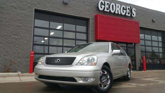 2003 LEXUS LS 430 BASE 4DR SEDAN millenium silver metallic leather a great deal in flat rock wh