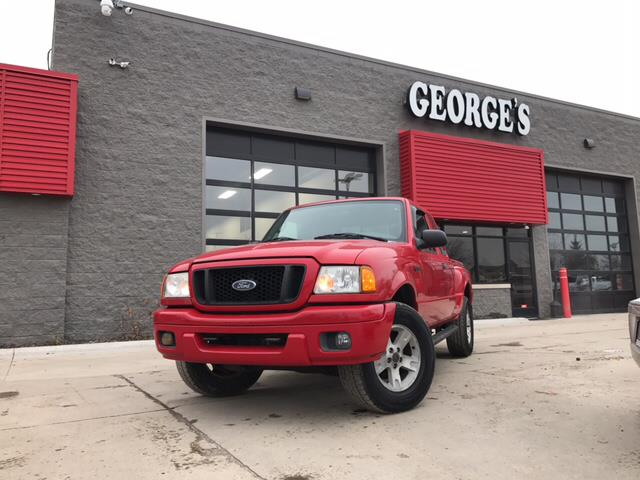 2004 FORD RANGER EDGE 4DR SUPERCAB 4WD SB red carfax 2 owners and no accidents 40l v6 efi and 4