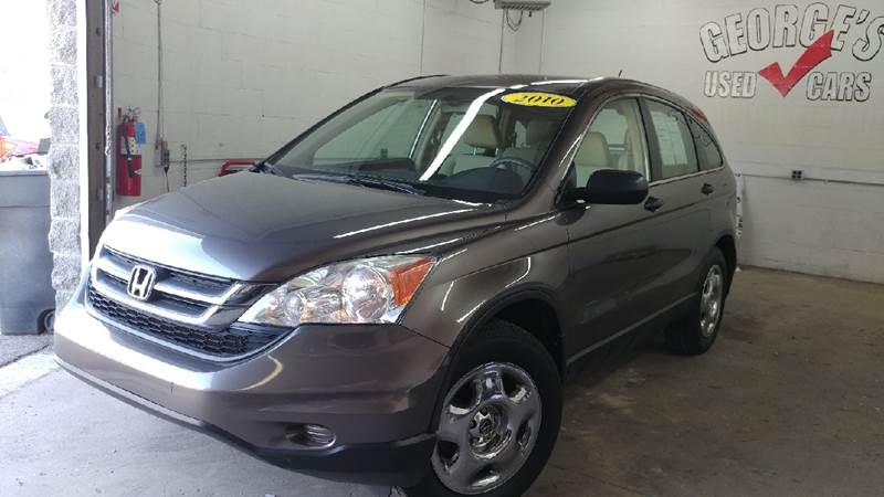 2010 HONDA CR-V LX AWD 4DR SUV urban titanium metallic carfax 2 owners and no accidents awd you