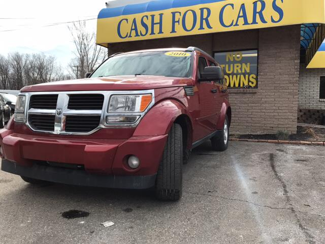 2010 DODGE NITRO SE 4X4 4DR SUV inferno red crystal pearlcoat carfax no accidents 4wd consider