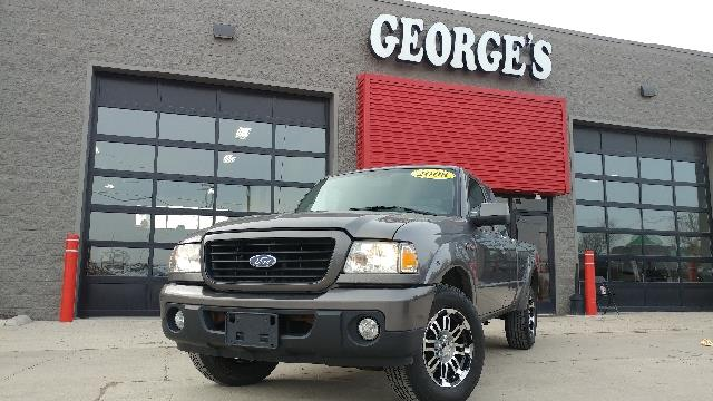 2008 FORD RANGER SPORT 4X2 4DR SUPERCAB SB shadow gray metallic carfax 1 owner 40l v6 sohc fin