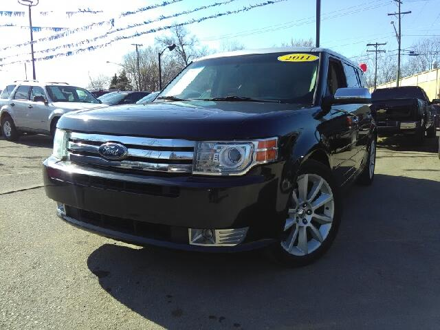 2011 FORD FLEX LIMITED 4DR CROSSOVER tuxedo black metallic carfax 1 owner goes fetch your carri