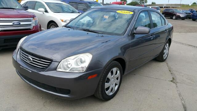 2008 KIA OPTIMA LX 4DR SEDAN 24L I4 5A midnight gray metallic what a great deal my my my w