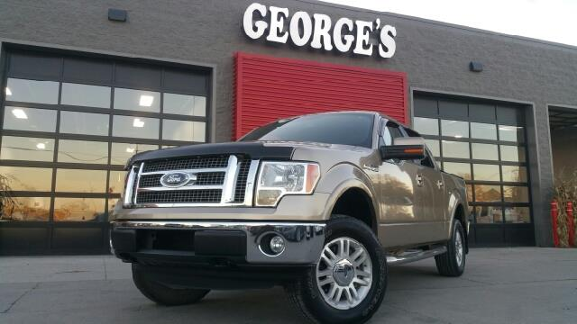 2011 FORD F-150 LARIAT 4X4 4DR SUPERCREW STYLESI tan carfax 1 owner and no accidents 50l v8 ffv