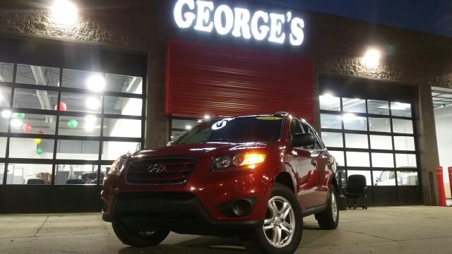2011 HYUNDAI SANTA FE GLS AWD 4DR SUV sonoran red carfax 2 owners and no accidents awd and cloth