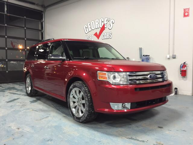 2009 FORD FLEX LIMITED CROSSOVER 4DR candy red carfax 2 owners my my my what a deal dont le