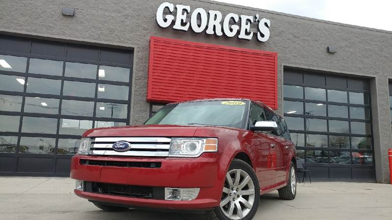 2009 FORD FLEX LIMITED CROSSOVER 4DR redfire metallic carfax 2 owners my my my what a deal d