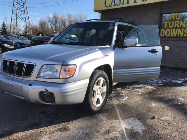 2002 SUBARU FORESTER S AWD 4DR WAGON platinum silver metallic carfax 1 owner with these low mile