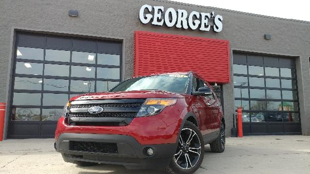 2014 FORD EXPLORER SPORT AWD 4DR SUV ruby red metallic carfax 1 owner awd the suv youve always