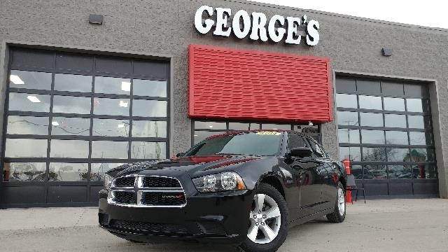 2014 DODGE CHARGER SE 4DR SEDAN pitch black carfax 2 owners and no accidents cloth your saddle