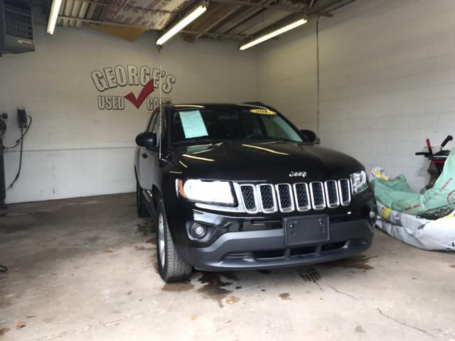 2014 JEEP COMPASS SPORT 4X4 4DR SUV black clearcoat carfax 2 owners and no accidents 4wd dutifu