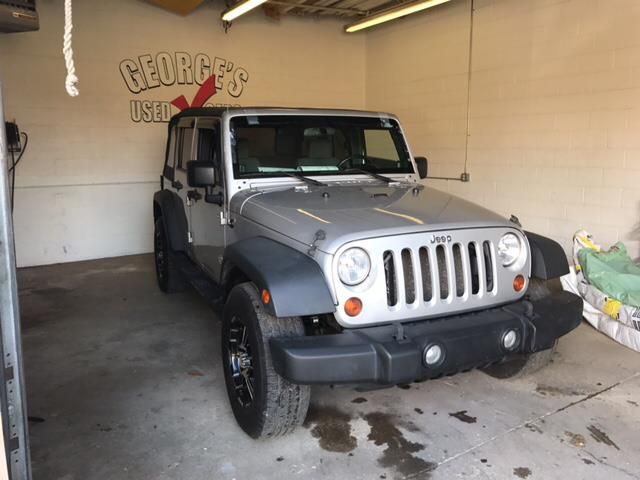 2008 JEEP WRANGLER UNLIMITED X 4X4 4DR SUV silver carfax 2 owners and no accidents 4wd this rid