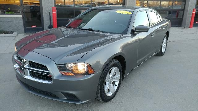 2012 DODGE CHARGER SE 4DR SEDAN mineral grey metallic carfax 2 owners and no accidents cloth wit