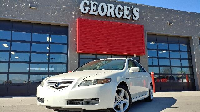 2005 ACURA TL 32 4DR SEDAN white diamond pearl carfax 2 owners and no accidents leather what a
