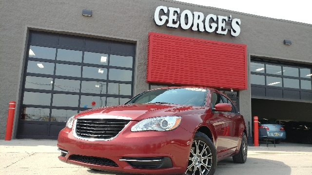 2013 CHRYSLER 200 TOURING 4DR SEDAN cherry red crystal pearl cloth has all the makings of the rig