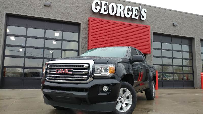 2015 GMC CANYON SLE 4X4 4DR CREW CAB 5 FT SB onyx black carfax 1 owner and no accidents 4wd idi