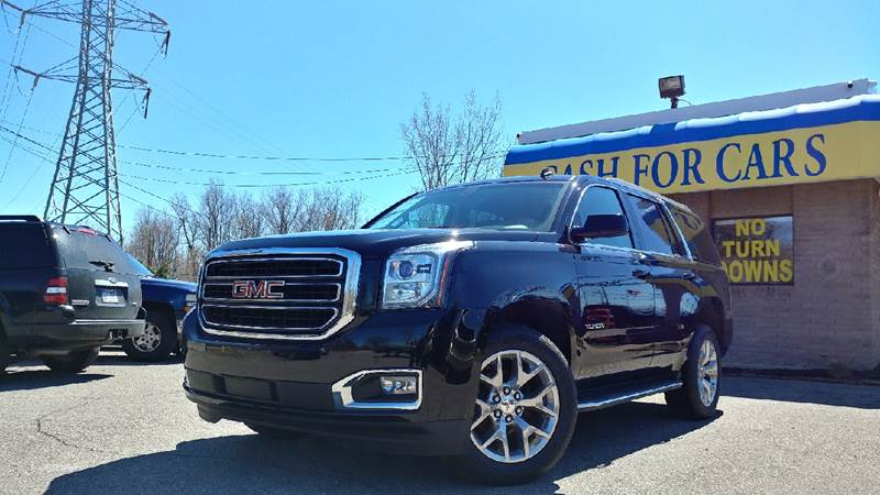 2015 GMC YUKON SLE 4X4 4DR SUV onyx black limited time internet special price carfax 1 owner and