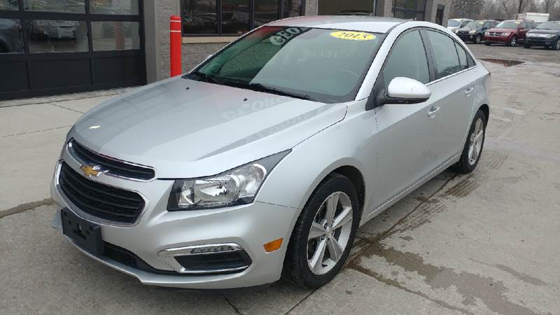 2015 CHEVROLET CRUZE 2LT AUTO 4DR SEDAN W1SH silver ice metallic carfax 2 owners and no accidents