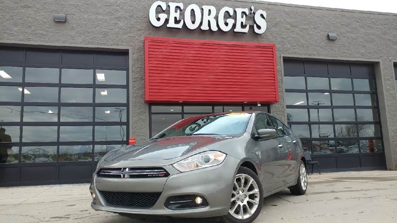2013 DODGE DART LIMITED 4DR SEDAN tungsten metallic carfax 1 owner and no accidents loaded with