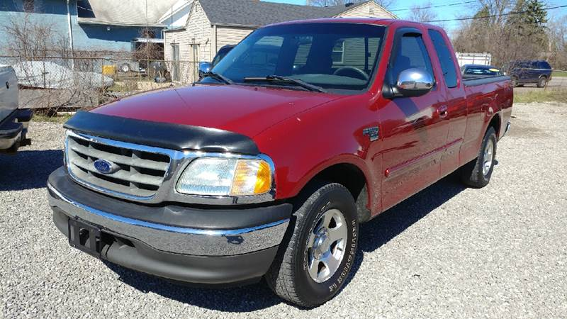 2002 FORD F-150 XLT 4DR SUPERCAB 2WD STYLESIDE S toreador red metallic carfax 1 owner and no acci