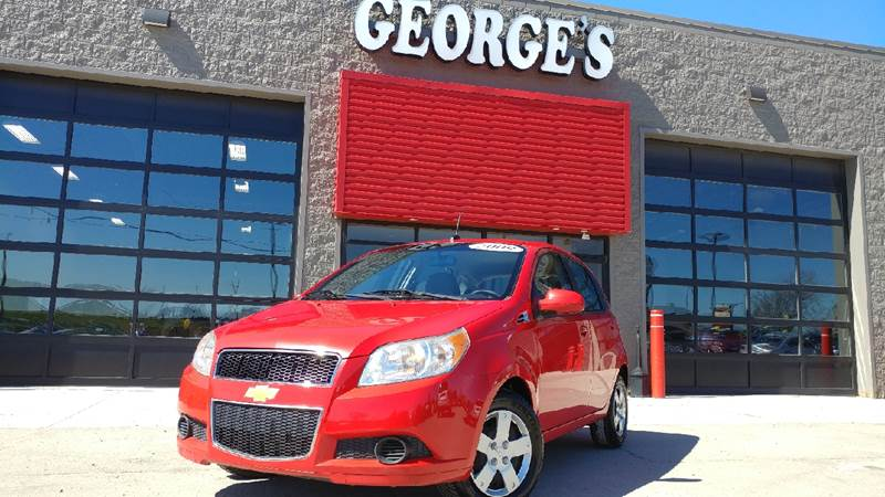 2009 CHEVROLET AVEO AVEO5 LT 4DR HATCHBACK sport red carfax 1 owner and no accidents with the sa
