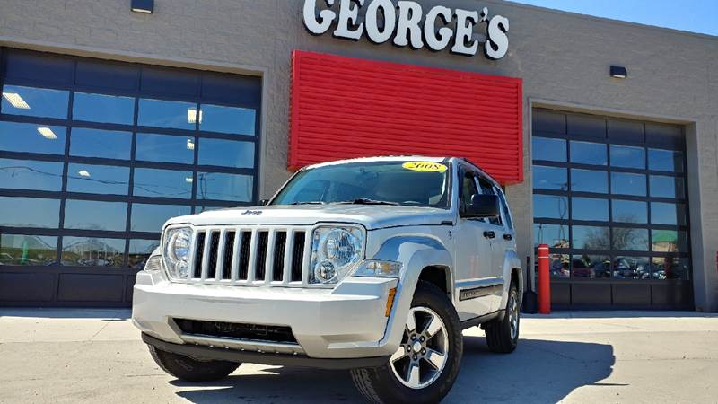 2008 JEEP LIBERTY SPORT 4X4 4DR SUV bright silver metallic 4wd abs brakes alloy wheels amfm r