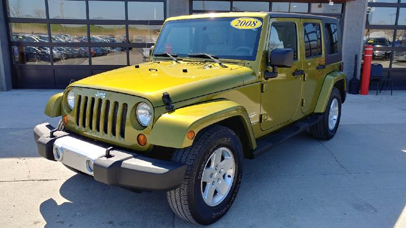 2008 JEEP WRANGLER UNLIMITED SAHARA 4X2 4DR SUV rescue green metallic carfax no accident report