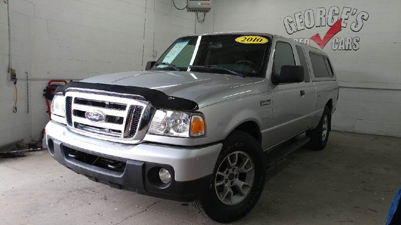 2010 FORD RANGER XLT 4X4 4DR SUPERCAB SB silver metallic carfax 1 owner and no accidents 40l v6