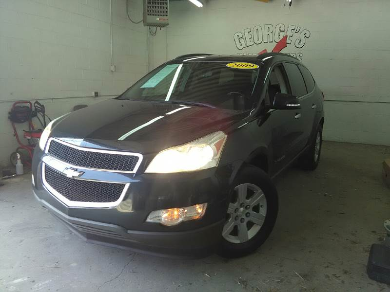 2009 CHEVROLET TRAVERSE LT 4DR SUV W1LT black 2-stage unlocking doors abs - 4-wheel airbag dea