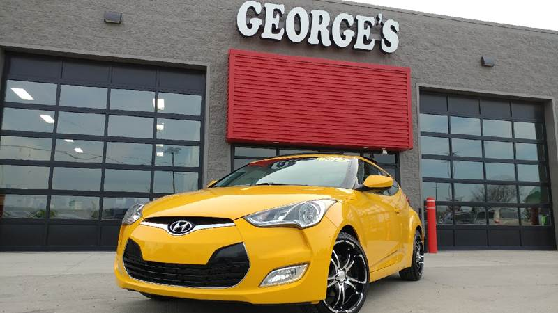 2012 HYUNDAI VELOSTER BASE 3DR COUPE WBLACK SEATS 262 yellow carfax 1 owner and no accidents su