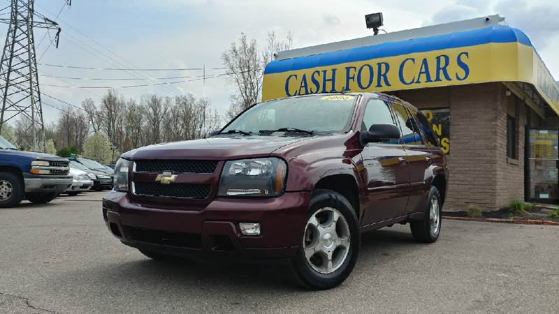 2006 CHEVROLET TRAILBLAZER LT 4DR SUV 4WD bordeaux red metallic carfax no accidents 4wd what a