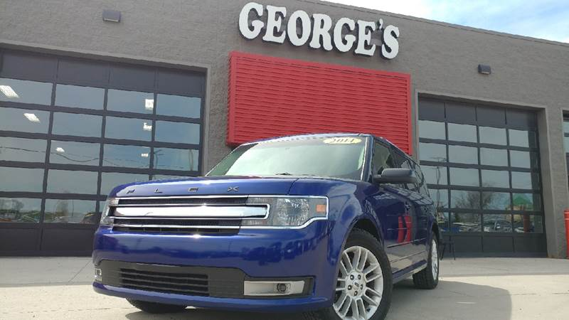 2014 FORD FLEX SEL AWD 4DR CROSSOVER blue 2-stage unlocking doors 4wd type - on demand abs - 4-