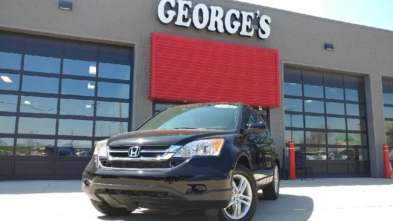 2010 HONDA CR-V EX AWD 4DR SUV crystal black pearl carfax 2 owner report 2-stage unlocking doors