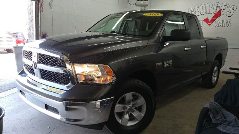 2015 RAM RAM PICKUP 1500 SLT 4X4 4DR QUAD CAB 63 FT SB granite crystal metallic carfax 1 owner a