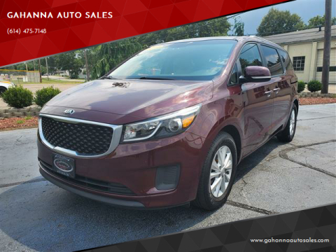 2016 Kia Sedona for sale at GAHANNA AUTO SALES in Gahanna OH