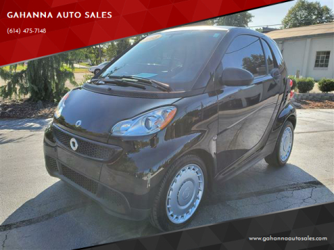 2013 Smart fortwo for sale at GAHANNA AUTO SALES in Gahanna OH