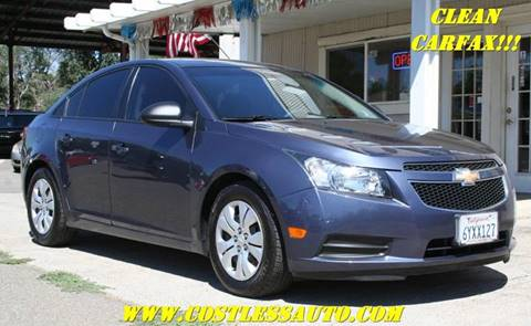 2013 Chevrolet Cruze for sale at Cost Less Auto Inc. in Rocklin CA
