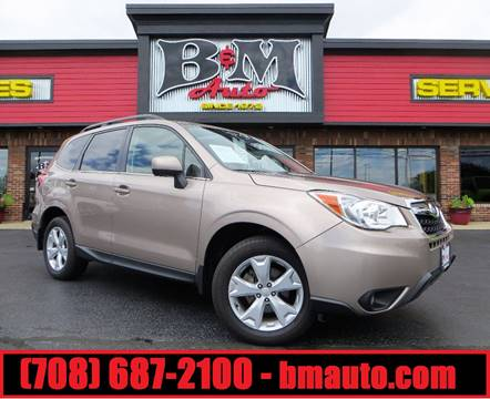 2016 Subaru Forester for sale at B & M Auto Sales Inc. in Oak Forest IL