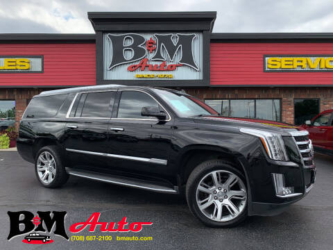 2015 Cadillac Escalade ESV for sale at B & M Auto Sales Inc. in Oak Forest IL