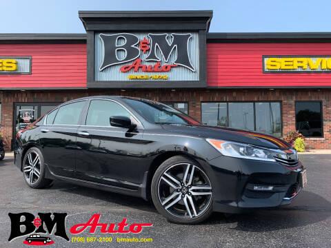 2017 Honda Accord for sale at B & M Auto Sales Inc. in Oak Forest IL