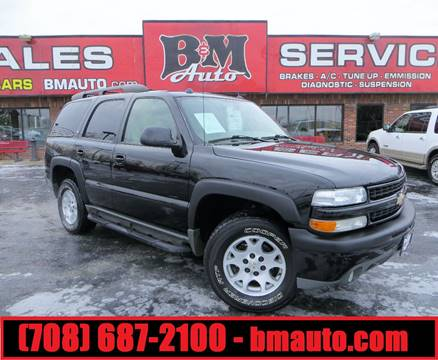 2005 Chevrolet Tahoe for sale at B & M Auto Sales in Oak Forest IL