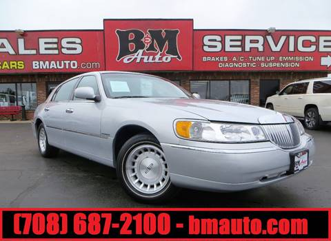 1999 Lincoln Town Car for sale at B & M Auto Sales in Oak Forest IL